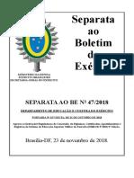 Separata exercito brasileiro