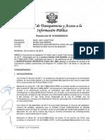 2019 Tribunal de Transparencia - Caso Puente Bella Unión