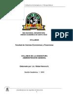 Syllabus  ADMINISTRACION GENERAL -- Gestión    I  - 2019.docx