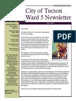 Ward 5 Newsletter - March 2019