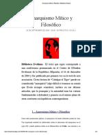 Anarquismo Mítico y Filosófico   Biblioteca Evoliana