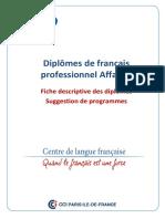 DFP Affaires Fiches Descriptives