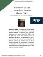 El Grupo de Ur y la Espiritualidad Romana. Marcos Ghio | Biblioteca Evoliana