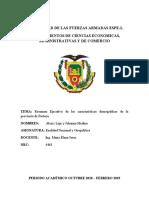 Caracteriticas Demograficas Del Ecuador (Pastaza)_jazmin Johanna Medina