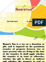 Donor's Tax