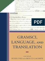 Gramsci, Language and Translation