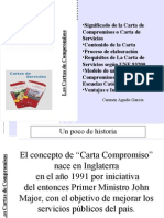 Cartas de Compromiso o catálogos de servicios en Educación