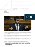 El Gobierno de Maduro Inhabilita a Juan Guaidó Para Ejercer Cargos Públicos Durante 15 Años - BBC News Mundo
