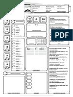 D&D 5E - Ficha de Personagem Completável - Narthalion