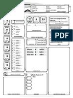 D&D 5E - Ficha de Personagem Completável (Narthalion)