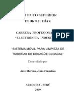Sistema Movil de Limpieza de Tuberias-Francisco Arce
