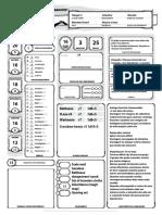 D&D 5E - Ficha de Personagem Ranger Dwarf Completável