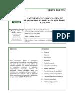 DER-PR (2005), ES-P33-05 Recicla Pavim in Situ Adicao Cimento