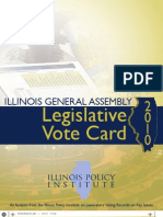 2010 Illinois General Assembly Vote Card
