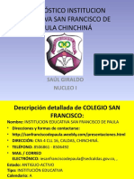 Diagnóstico Institucion Educativa San Francisco de Paula Chinchiná
