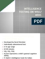 Intelligence Testing on WISC.pptx
