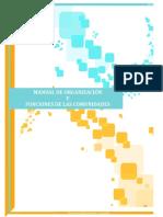 MANUAL de Organizacion y FUNCIONES de Las Comunidades