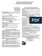 LEEA - Instruction for Safe Use of Flat Woven Webbing Slings
