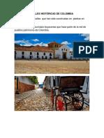 Calles Históricas de Colombia