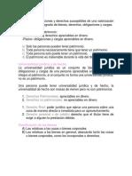 Derecho Civil. Patrimonio,  Bienes, Propiedad, Copropiedad, Usufructo.