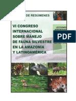 Resumenes Vi Congreso Fauna