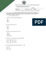 Evaluación de Números Enteros 2 2019