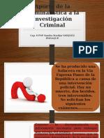 Aporte de La Criminalística a La Investigación Criminal