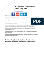 Teknik Presentasi Penjualan Dan Pemasaran Produk Yang Baik