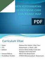 Manajemen Keperawatan Stroke Di Intensive Care Dan Rawat
