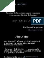 EK - OMPI-MinCyT - Julio 08 - Fuentes de financiacion para PyMES tecnologicas - Venture Capital