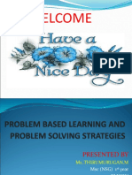 Problem Based Learning and Problem Solving Strategies