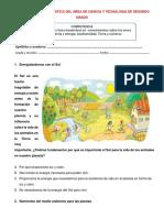 EVALUACION  DIAGNOSTICA DEL AREA DE CIENCIA Y TECNOLOGIA DE SEGUNDO GRAD1.docx