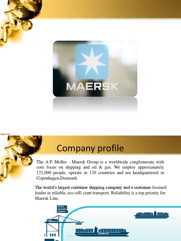 Mearsk PPT | Shipping | Water Transport