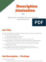 Job Description Optimization
