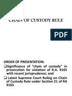 Chain of Custody Rule