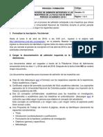 Instructivo Para La Admisión Anticipada a Las Maestrias de La Facultad de Minas 2018-I