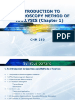 Chapter 1 - Introduction to Spectroscopy Method of Analysis