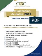 Requisitos Actualizacion de Datos2017