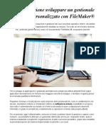 Gestionale Aziendale Personalizzato con FileMaker® anche per dispositivi mobili