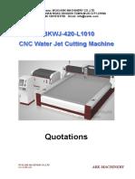 CNC Table Waterjet Cutting Machine