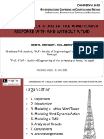 COMPARISONS OF A TALL LATTICE WIND TOWER RESPONSE WITH AND WITHOUT A TMD
