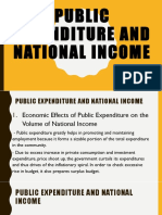 Public Expenditure and National Income