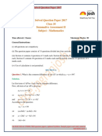 Cbse Class 10 Mathematics Solved Question Paper 2017