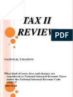Tax II Review