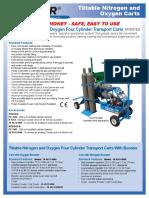 Tiltable Nitrogen and Oxygen Carts