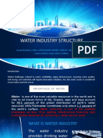 Water Industry Structure (Week 7)