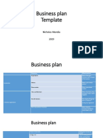 Template for Business Plan 2019