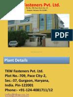 Tkw Fasteners Profile