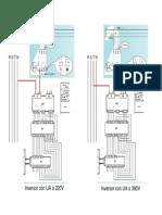 Cableado RCP_con automatismo UA220 - 380V AC