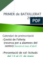 Primer BATX.  orientació  4t 2019